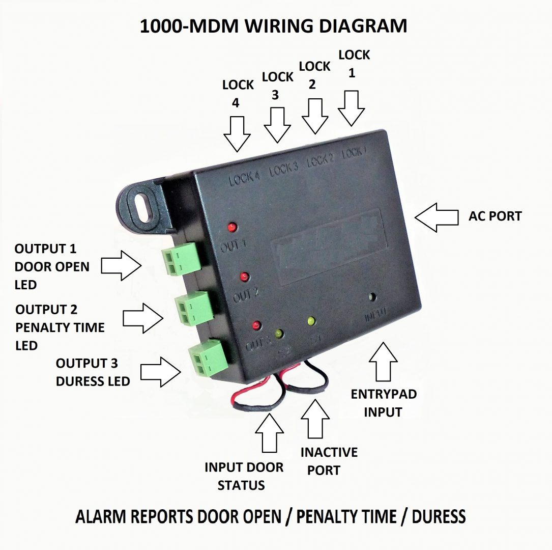 Electronic Lock Set Options Kj Ross Security Locks Alarm Wiring Diagram Duress Module 1000 Mdm Multi