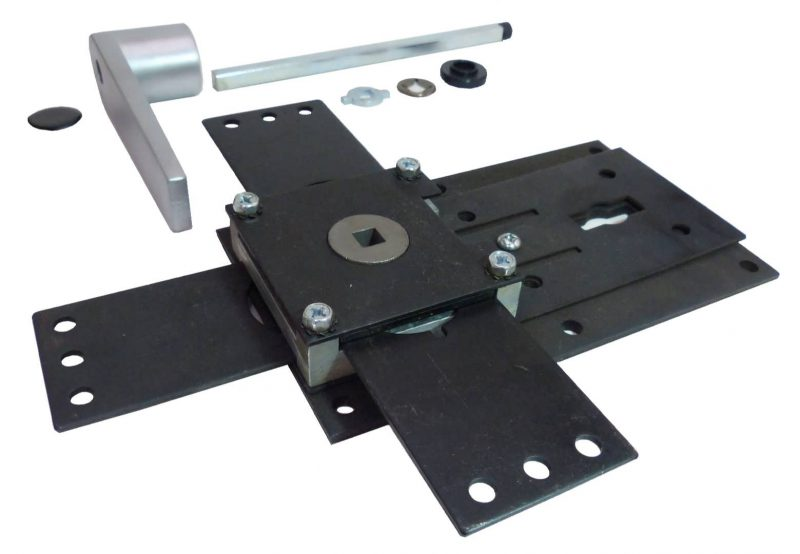 RS-LK-3WAY Single Lock 3-Way Locking System with Re-locker plate and handle assembly